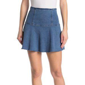 Free People Highlands Denim Mini Skirt